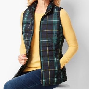 Talbot's Down Vest Plaid, Beautiful NWOT Condition
